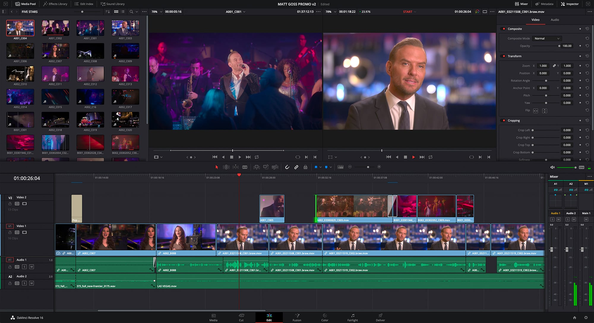 DaVinci Resolve 16 - edit