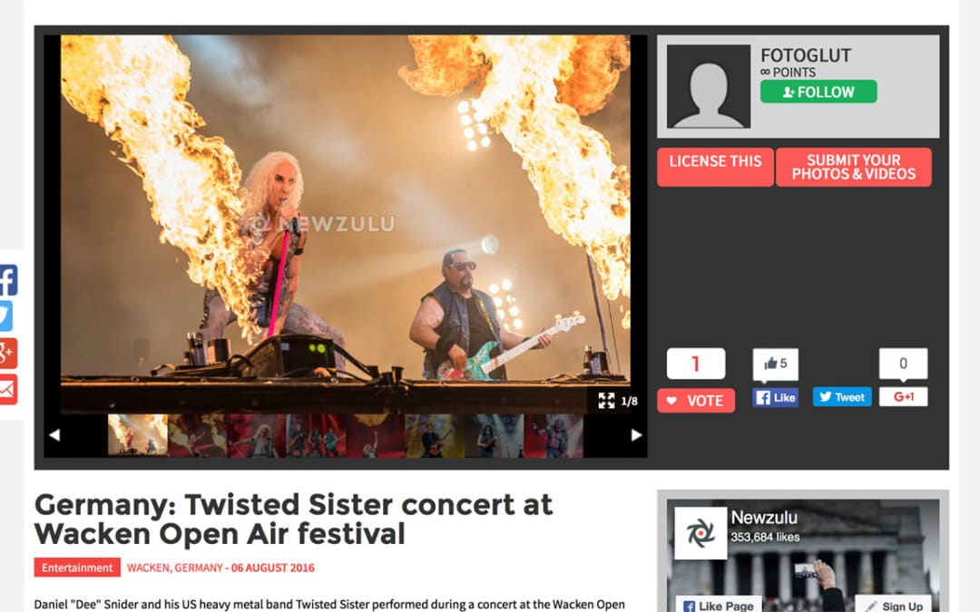 Twisted Sister concert at Wacken Open Air festival