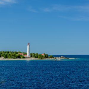 """Leuchtturm auf Cove Island im Huronsee - Ein Motiv aus dem Kalender """"Manitoulin Island"""" von Michael Stollmann - fotoglut.de"""