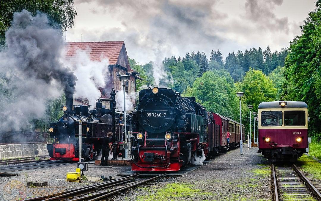 Dampf im Bahnhof