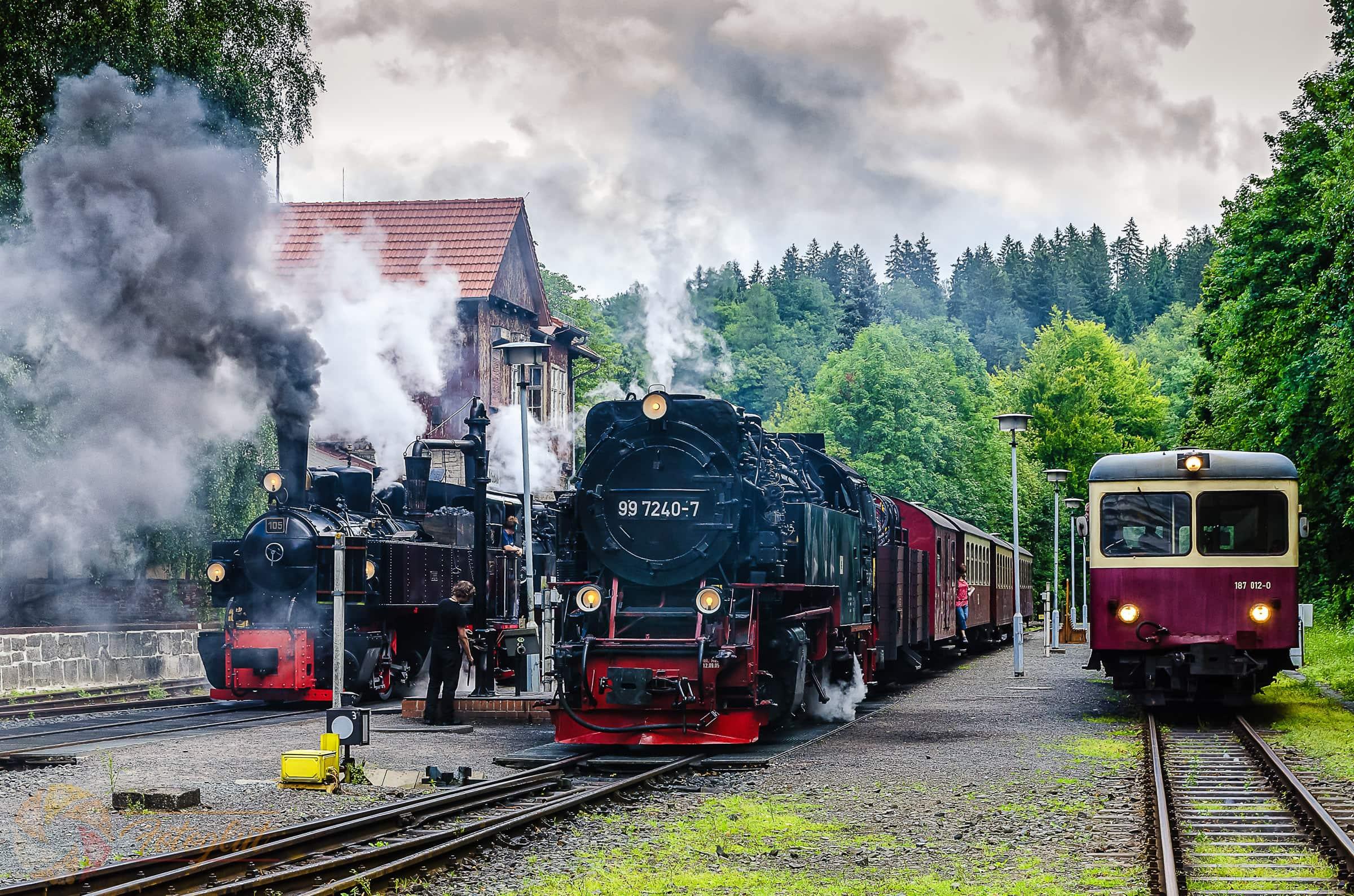 Dampf im Bahnhof - Foto: M. Stollmann