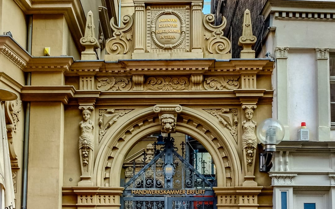 Eingang zur Handwerkskammer zu Erfurt