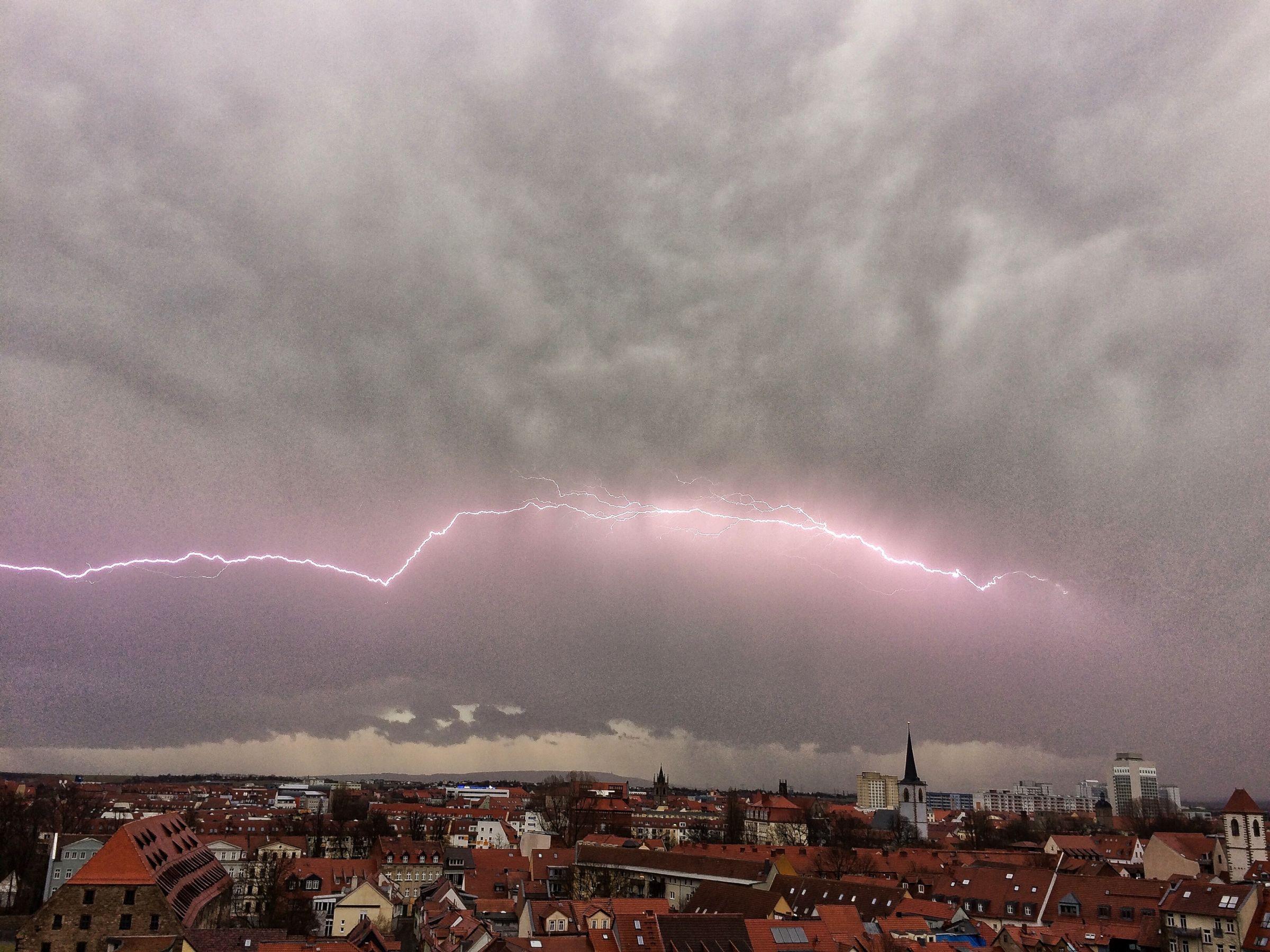 Gewitter über Erfurt 4.4.2018