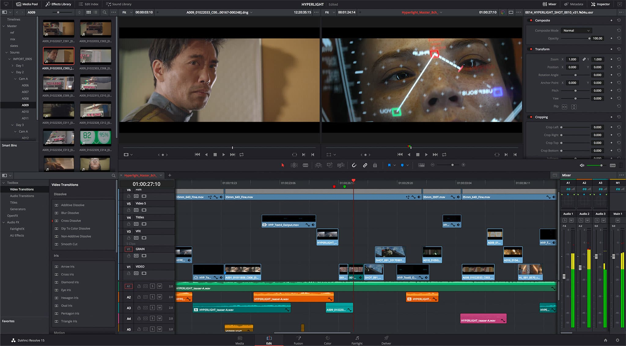 Screenshot - DaVinci Resolve 15 - BlackMagic Design