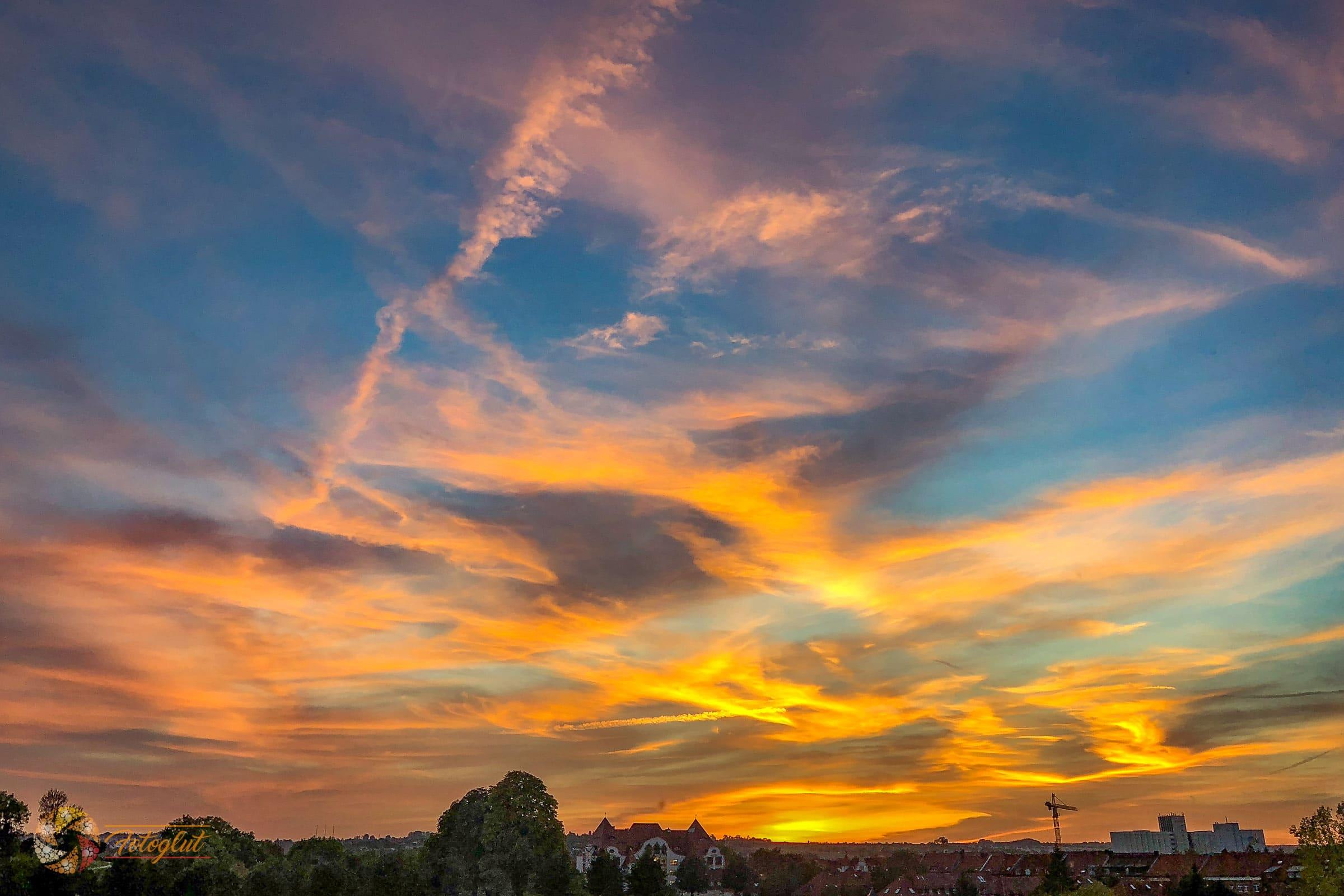 Sonnenuntergang Erfurt Okt. 2018 - © M. Stollmann