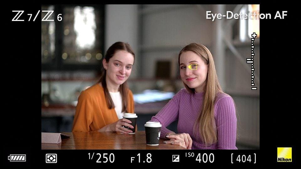 NIKON - Augen-Autofokus der Firmware 2.0