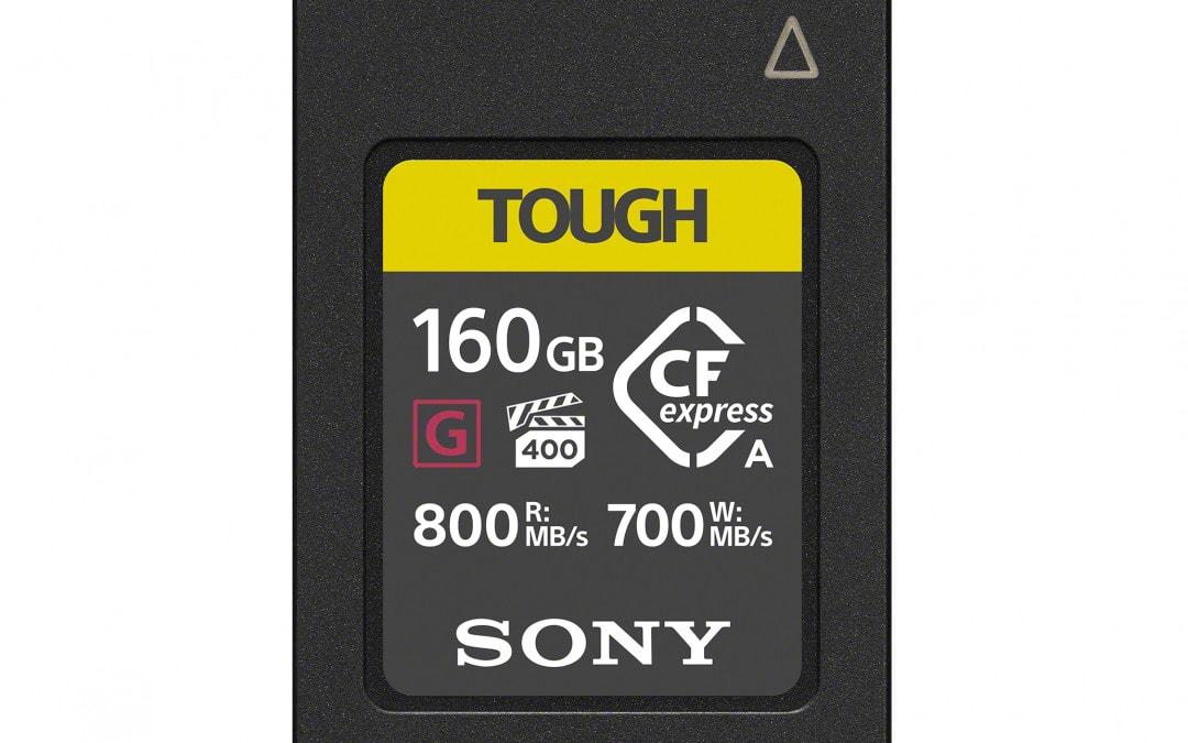 Sony stellt die weltweit erste CFexpress Speicherkarte vom Typ A vor