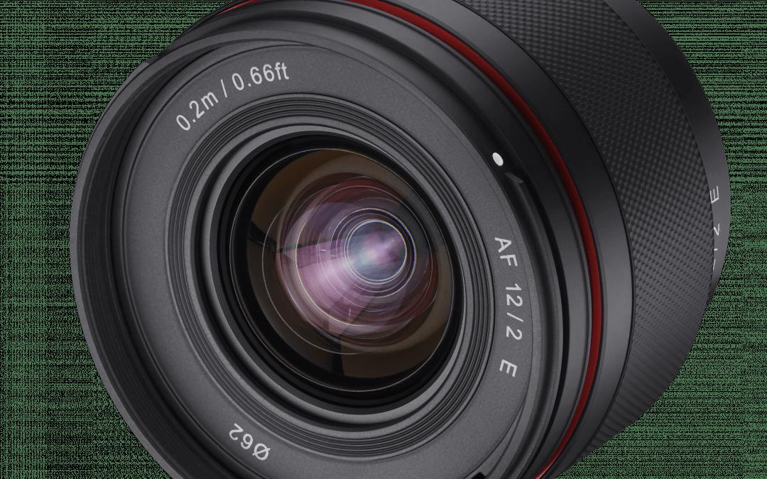 Samyang AF 12mm f 2.0 Sony E für spiegellose APS-C Kameras