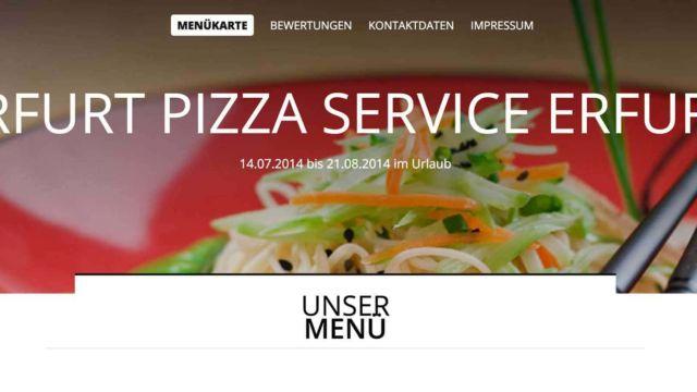 Erfurt Pizza Urlaub 2014