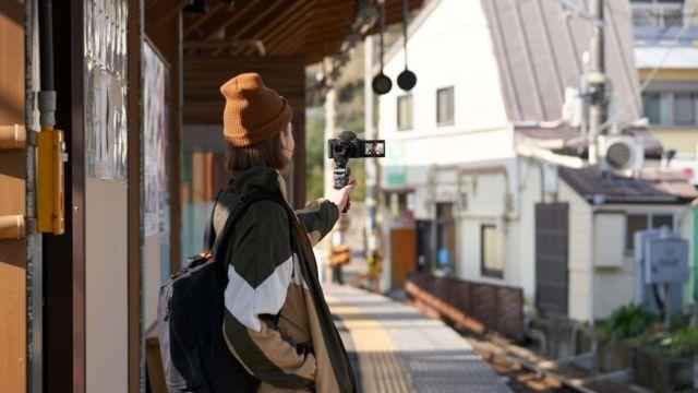 Sony ZV-1 Selbstportrait mit VPT2BT